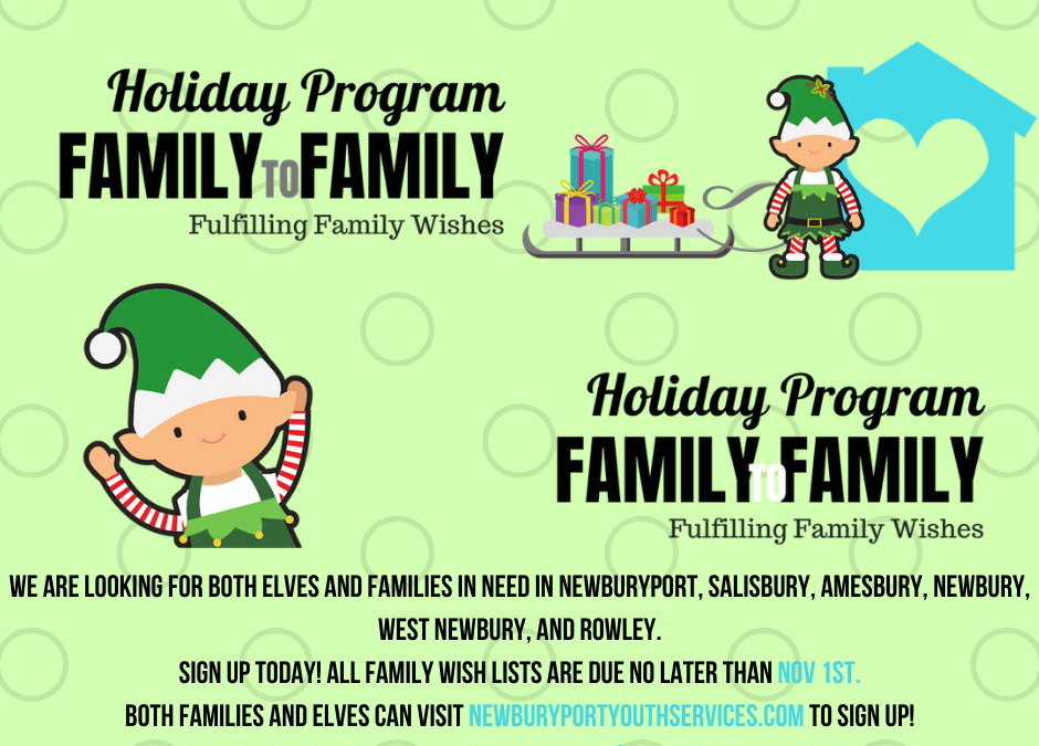 Family to Family Holiday Program: we need your help!